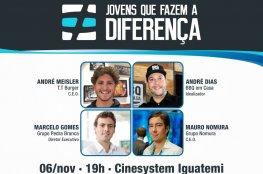 Estão abertas as inscrições para assistir a 5ª edição da premiação 'Jovens que Fazem a Diferença'