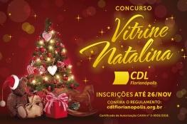 CDL de Florianópolis lança Concurso de Vitrine Natalina